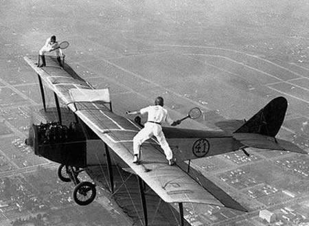 tennis on a plane 1927