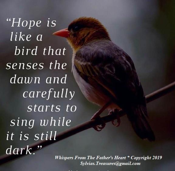 hope is like a bird